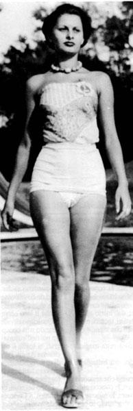 sofia loren.1950 δεκάξι ετών.
